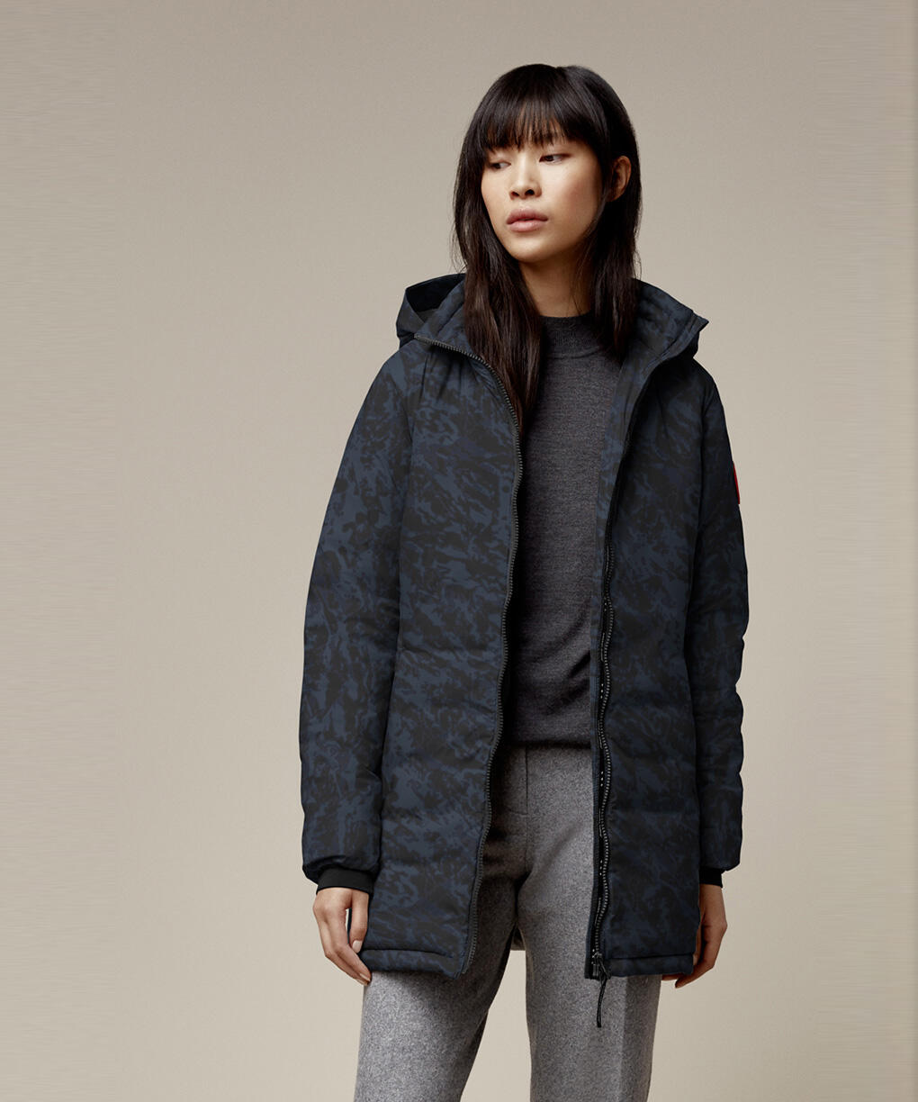 CAMP HOODED JACKET FUSION FIT - PRINT
