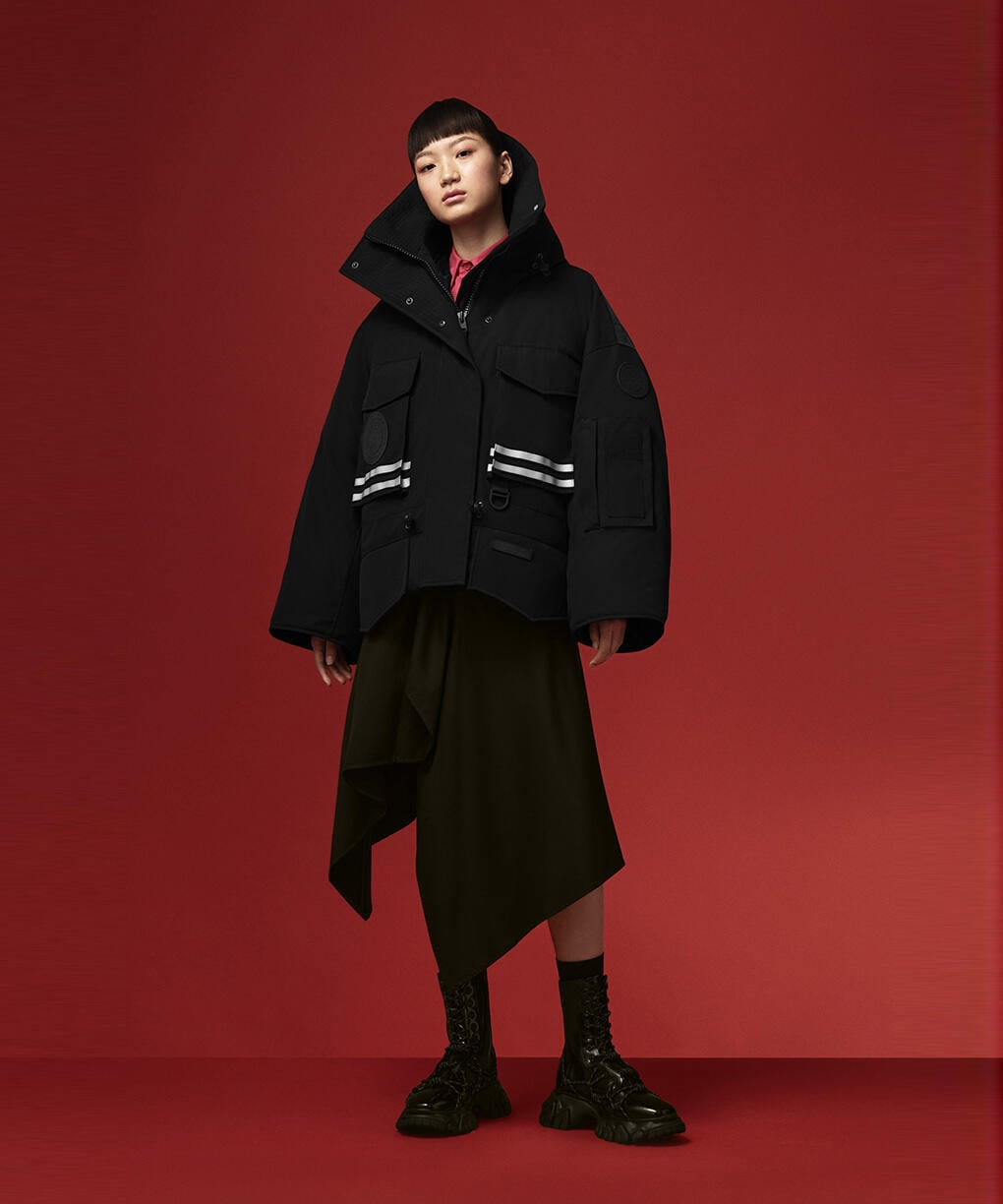 CROPPED SNOW MANTRA PARKA