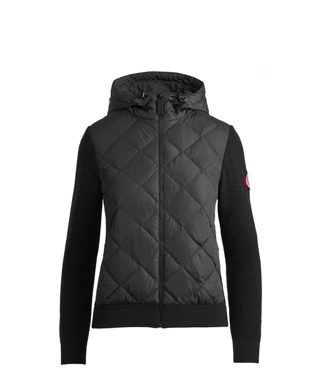 HYBRIDGE QUILTED KNIT HOODY(W)